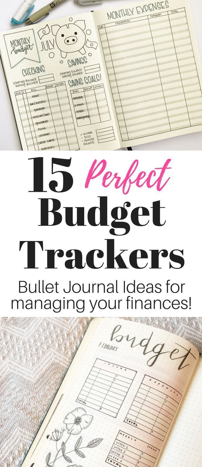 10 Brilliant Budget Trackers For Your Bullet Journal Economic