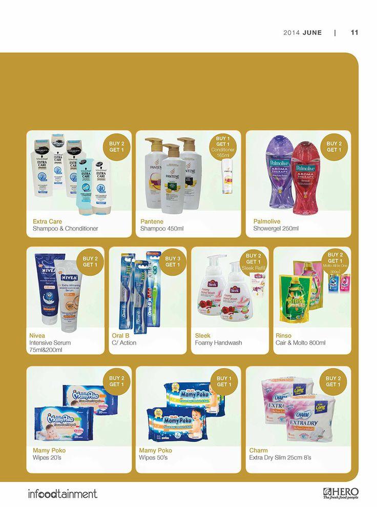 'Buy 2 Get 1 Free'   Ayo Fresh People, dapatkan berbagai penawaran khusus untuk berbagai keperluan pribadi Anda hanya di Hero Supermarket.