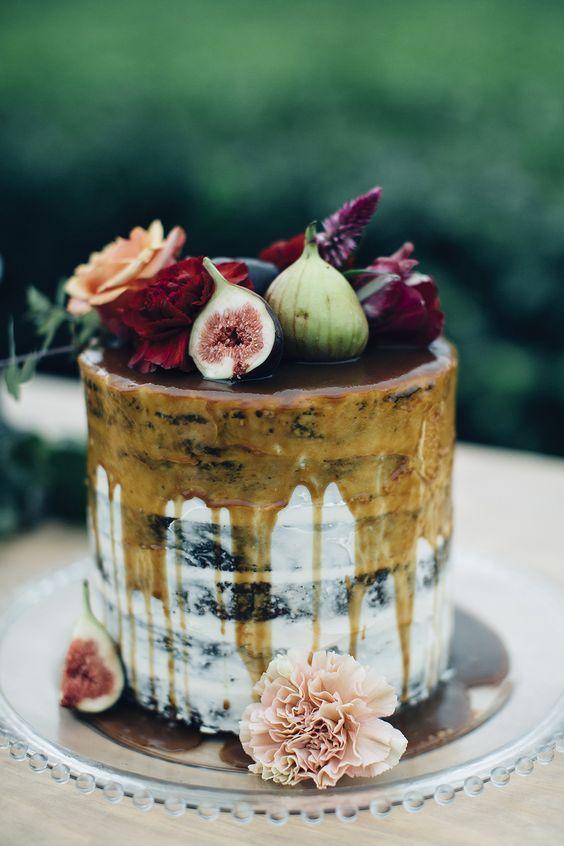wedding cake  Torta nuziale Drip cake caramellata