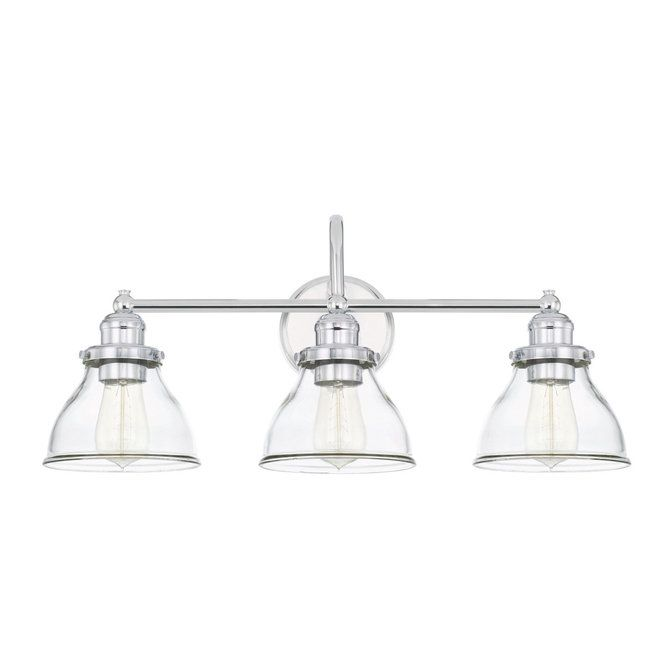 Montpelier Clear Glass Vanity Light 3 Light With Images