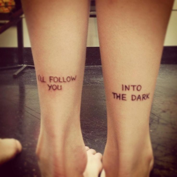 Best friend tattoos deathcab lyrics running free ranged pint