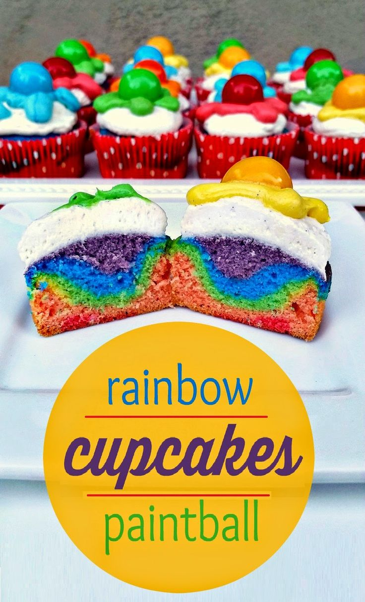 I used Duff Goldman's Tie-Dye cake mix to make paintball cupcakes for my #DisneySide party!