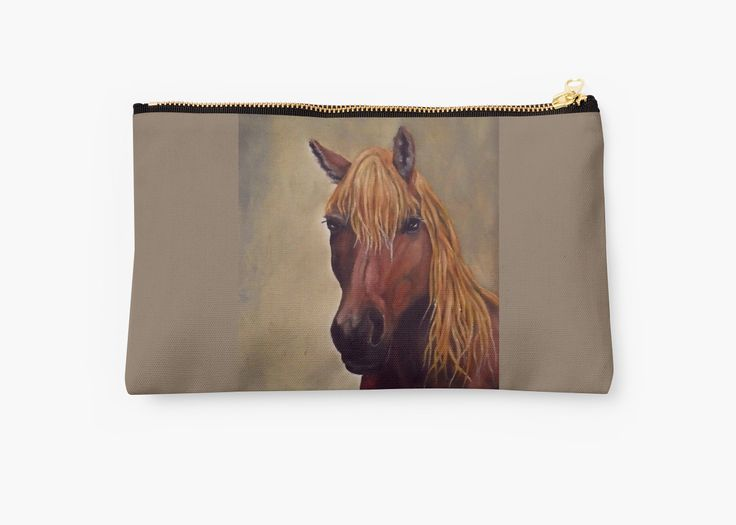 Studio Pouch,  cool,beautiful,fancy,unique,trendy,artistic,awesome,fahionable,unusual,accessories,for sale,design,items,products,gifts,presents,ideas,carry all pouch,brown,horse,redbubble