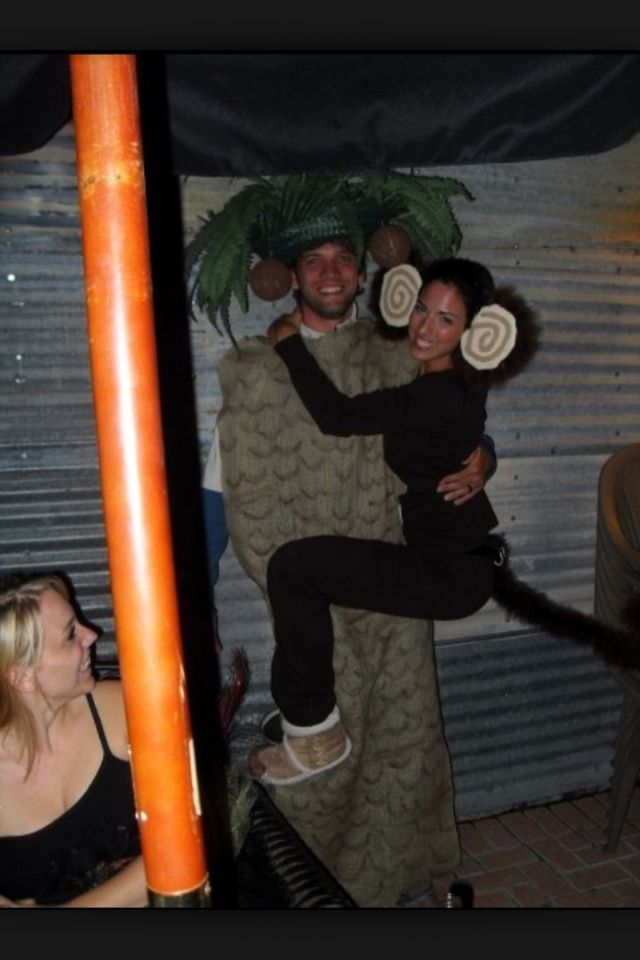 monkey and palm tree couple halloween costume - Good Halloween Costumes For Big Guys