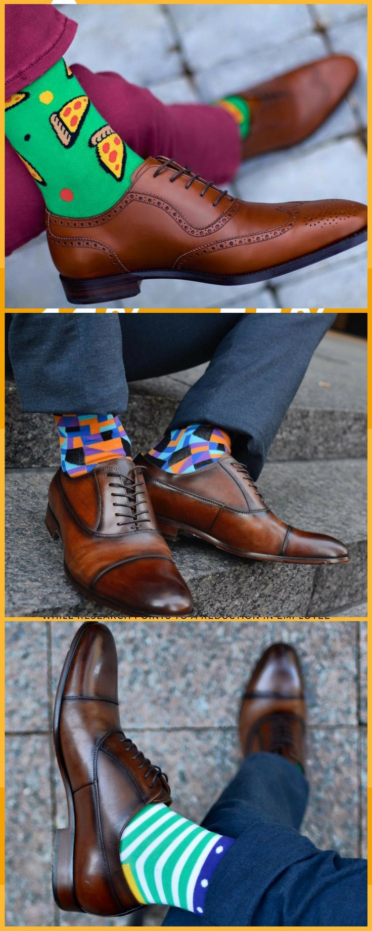 They only remember the person who stands out. Let your sock game do the work for you.