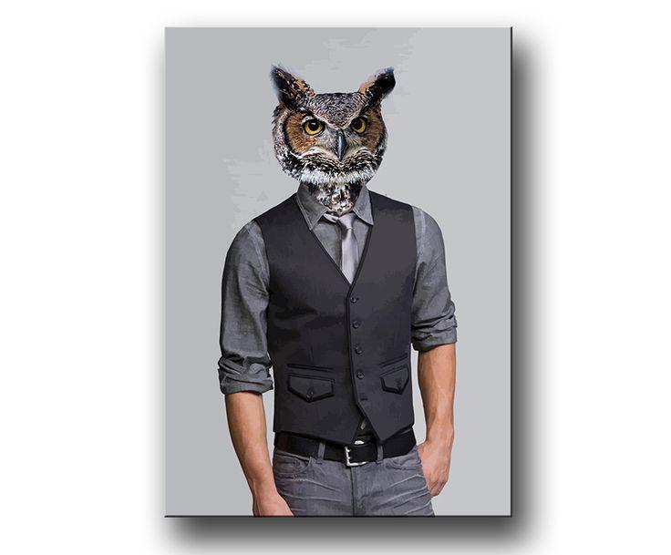 """""""Owlman"""" - uggla poster / prints / tavla"""
