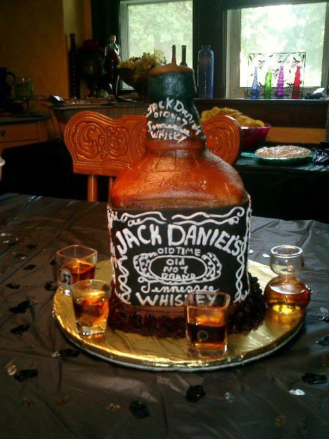 Jack Daniels Whiskey Bottle Cake My Cakes By Julie