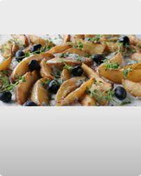 Gorgonzolagratinerede grovfritter