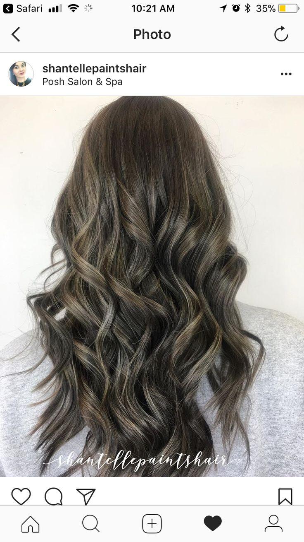 Mushroom brown Spring hair color, Dark hair with