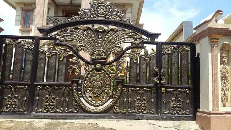 Model Gerbang Klasik Mewah Pintu Pagar Besi Tempa