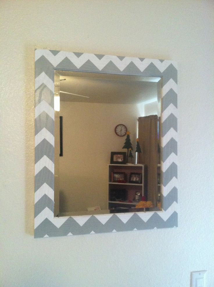 DIY Chevron Mirrors!