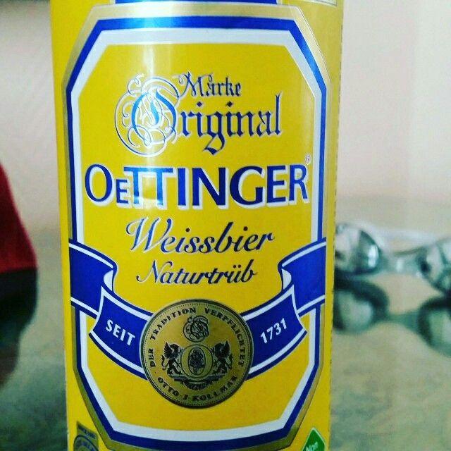 Oettinger Hefeweißbier Naturtrüb / Weissbier by Oettinger Brauerei #untappd