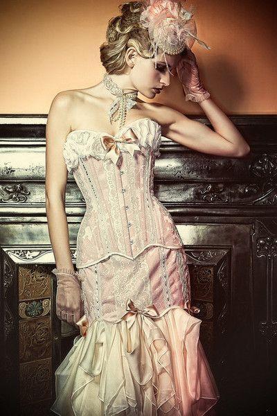 494 best dolls gothic dolls images on pinterest short for Steampunk corset wedding dress