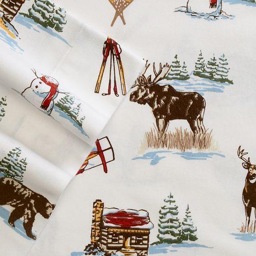 Cuddl Duds Flannel Sheet Set Twin Sheet Sets Blue