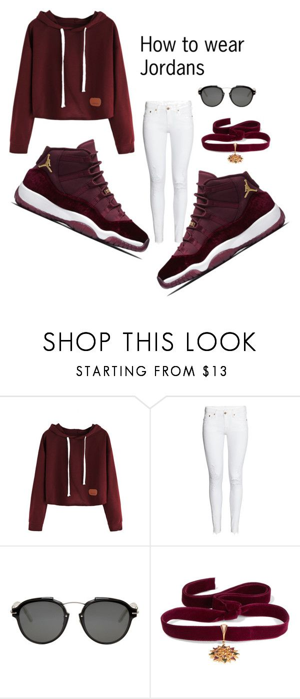 How to wear Jordans by tajjxs ❤ liked on Polyvore featuring Christian Dior and Diego Percossi Papi