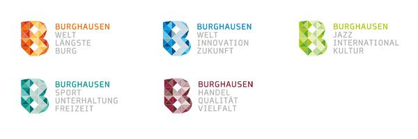 Logo Stadt Burghausen – Farbwelten
