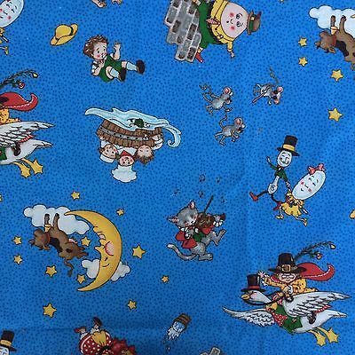 Bedtime Stories Fabric. Humpty Dumpty Jack and Jill 3 Blind Mice Mother Goose