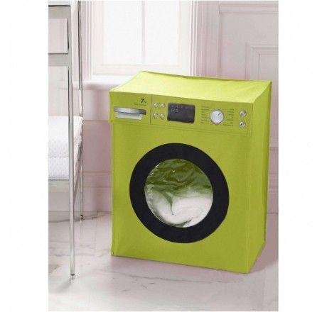 Cesto de Roupa Washing Machine Verde | Fábrica9 - Loja de Presentes Criativos e Decoração Criativa