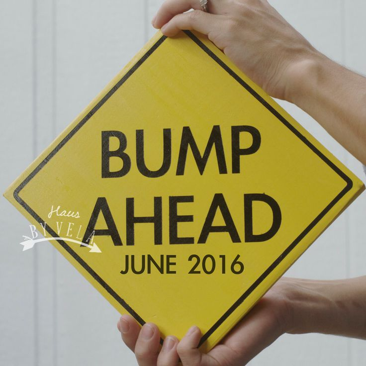 Pregnancy announcement- Bump Ahead -Custom Wooden Sign by HausByVela on Etsy https://www.etsy.com/listing/255464642/pregnancy-announcement-bump-ahead-custom