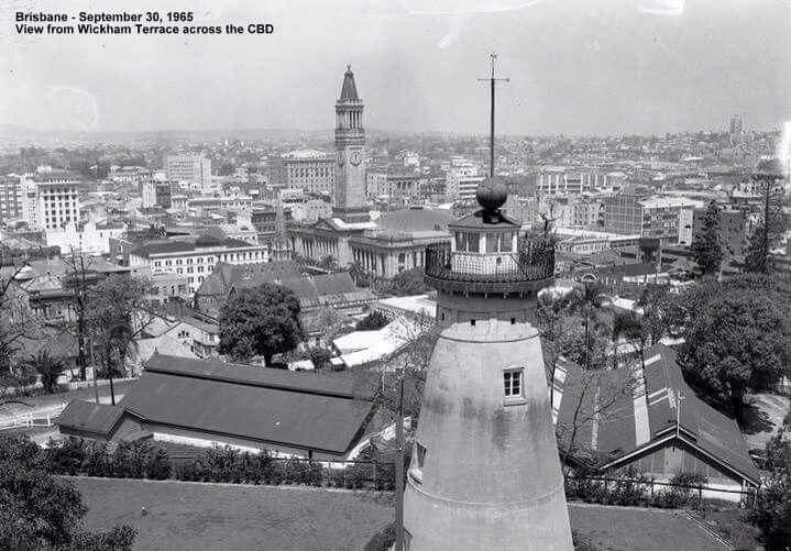 From Wickham Terrace across Brisbane CBD in 1965.
