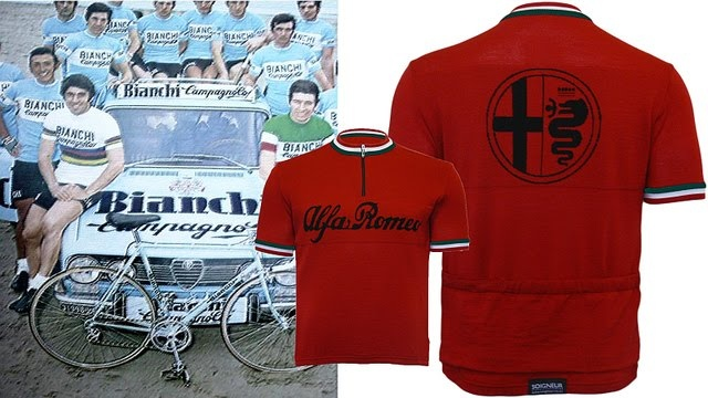Super Cool Wool by Alfa-Romeo, and what a car was Alfa Giulietta in the sixties!