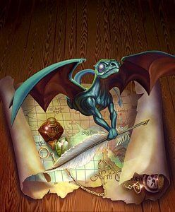 Pern Painting - Here There Be Dragons by Todd Hamilton