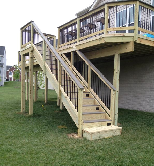 Best Deck With Composite Decking Steps And Handrails On 400 x 300