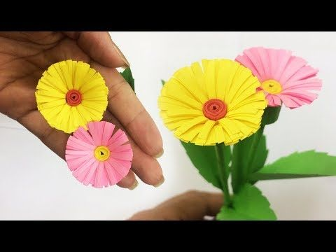 How To Make Small Paper Flower Making Paper Flowers Step By Step