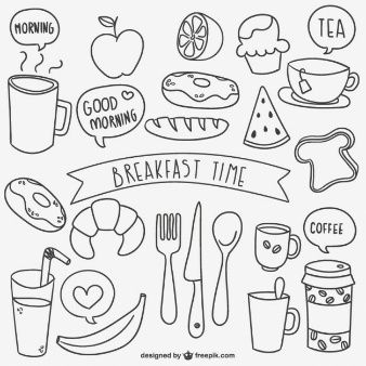 Breakfast time doodles