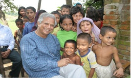 Grameen Bank | Bank for the poor - Home  --Nobel Laureate Professor Muhammad Yunu was the first to establish his Micro Lending Model and share it with the world. The rest is recent history. So many organizations around the world are doing Great things and changing lives because of his micro lending model.