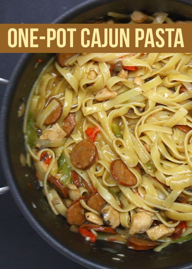 One-Pot Cajun Pasta | This Cajun Pasta Dish Is The Ultimate Comfort Food Dish For You To Make