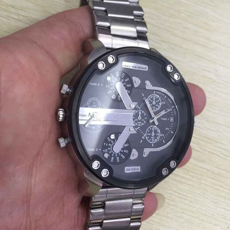 2016 Новая Мода полный стали Мужчины Wacth множественный часовой пояс модель часы мужские Многофункциональный движение водонепроницаемый военные часы - Best men watches shop