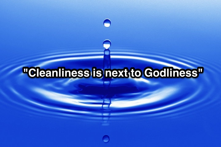 """""""Cleanliness is next to Godliness"""" is not a direct quote from the Scriptures, however the principle of cleanliness was certainly taught by God in the Hebrew Law.  Would you expect to find Heaven dirty?  Would it truly be Heaven if it were dirty?"""