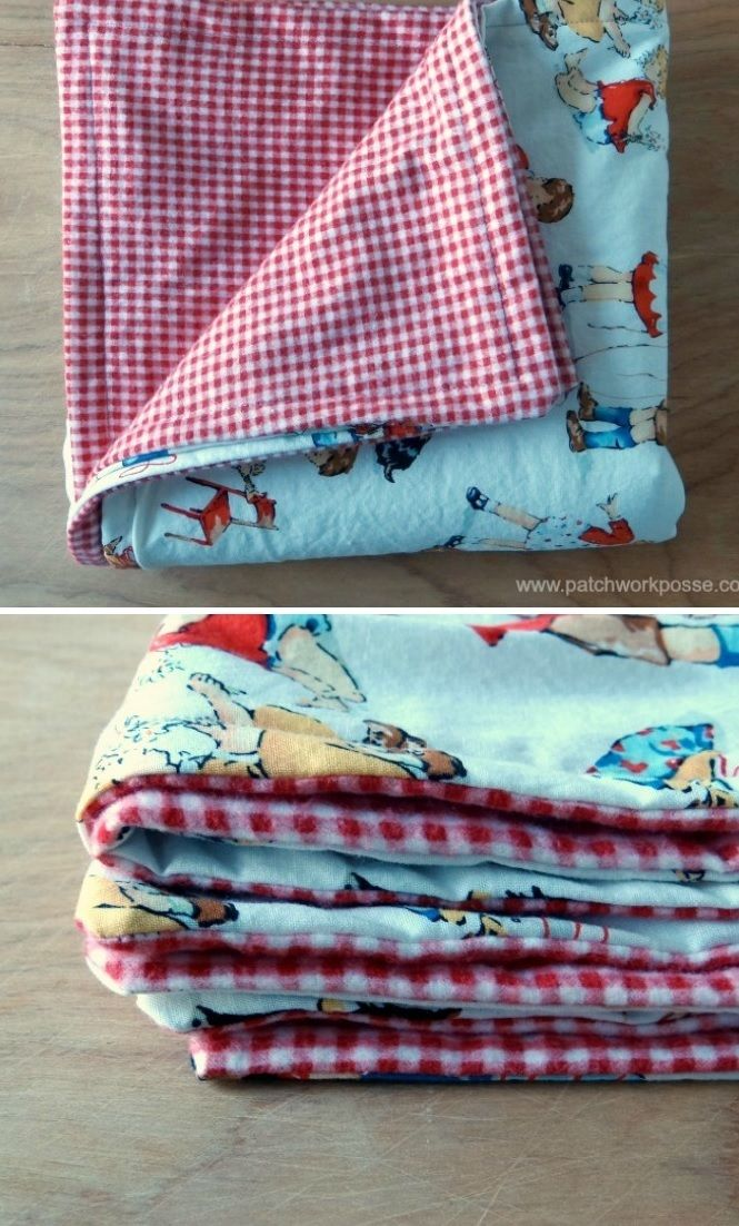 Learn how to sew a baby blanket pattern for your little one in less than an hour with this sewing for baby project idea. This adorable free blanket pattern makes an amazing DIY baby shower gift and takes no time at all. The Half Hour Baby Blanket Pattern has a classic and simple look