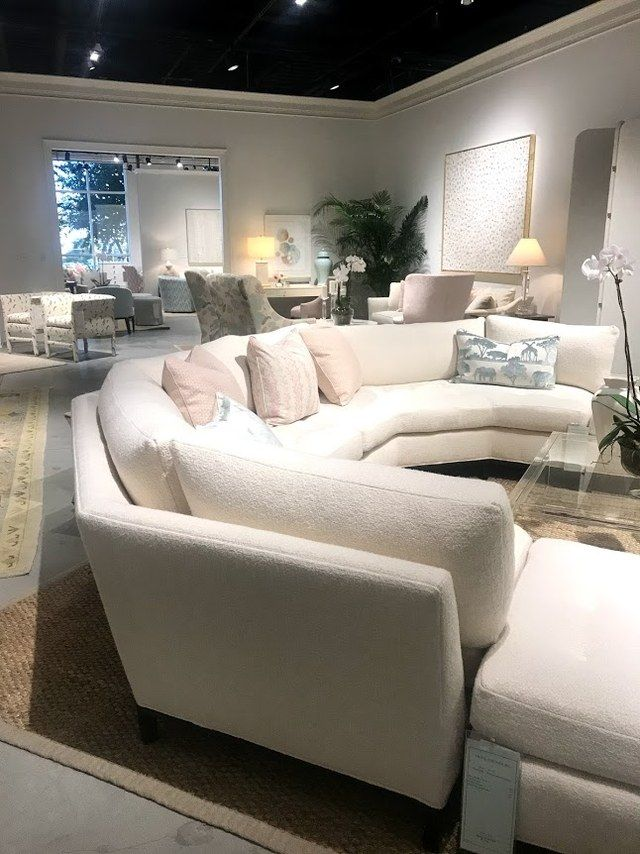 These Are The Home Trends You Ll See Everywhere In 2018 Curved Sofa Living Room Luxury Living Room Home Trends