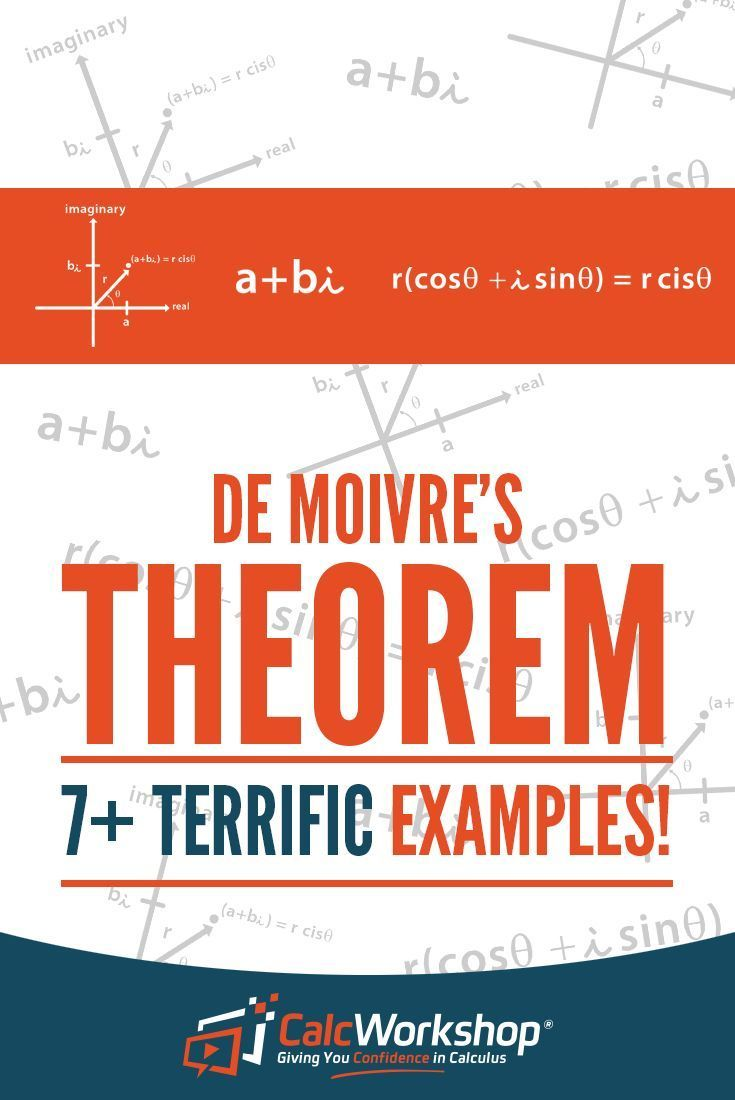 De Moivre's Theorem - EXCELLENT video lesson on finding roots and solutions to equations dealing with complex numbers.  With 8 example problems you'll have everything you need to score well in your next test.  Excellent review if you're new to teaching this topic too. Perfect for students in high school or middle school math courses. Find out why you need to be in polar form first to find powers.  Even discover how to deal with negative numbers.