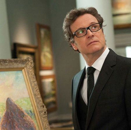 Colin Firth suit and glasses cuteness.