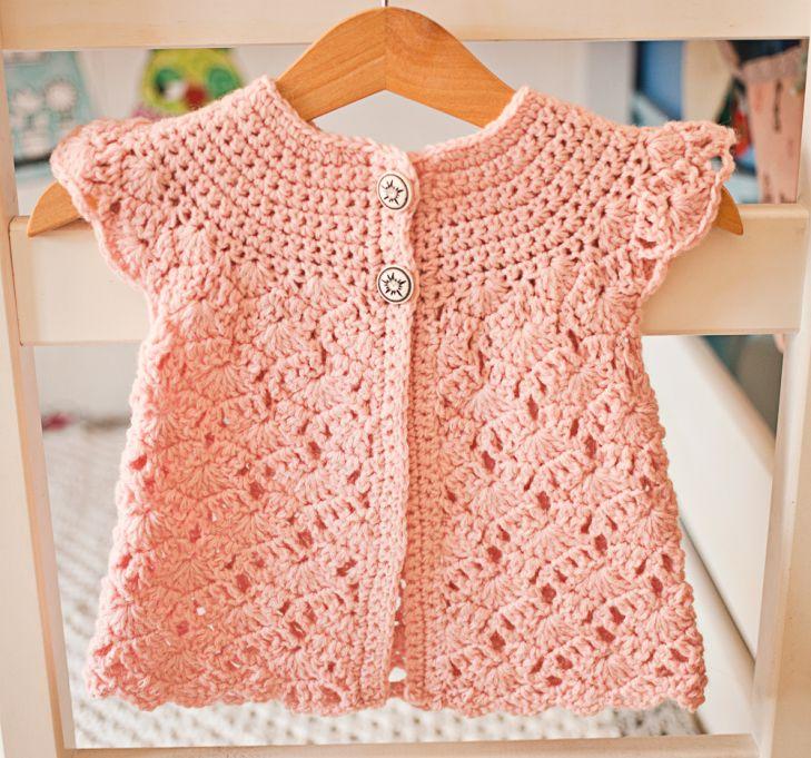 Zara's Sleeveless Cardigan - crochet pattern by Mon Petit Violon