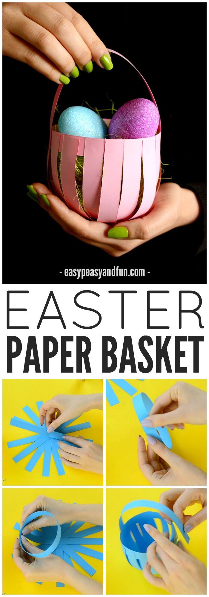 DIY Easter Paper Basket Craft