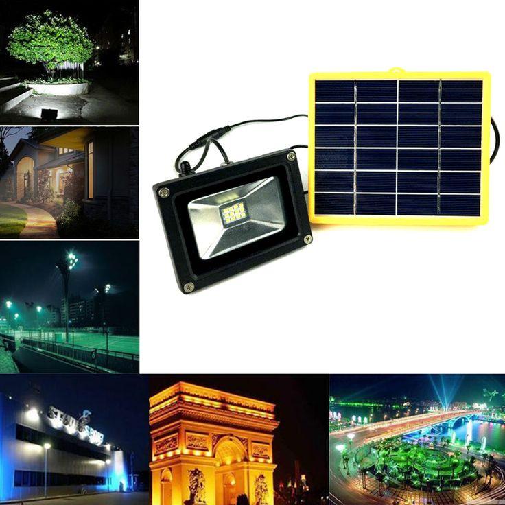 ruocin solar power 12 led floodlight 3w super bright outdoor waterproof ip65 flood light garden street