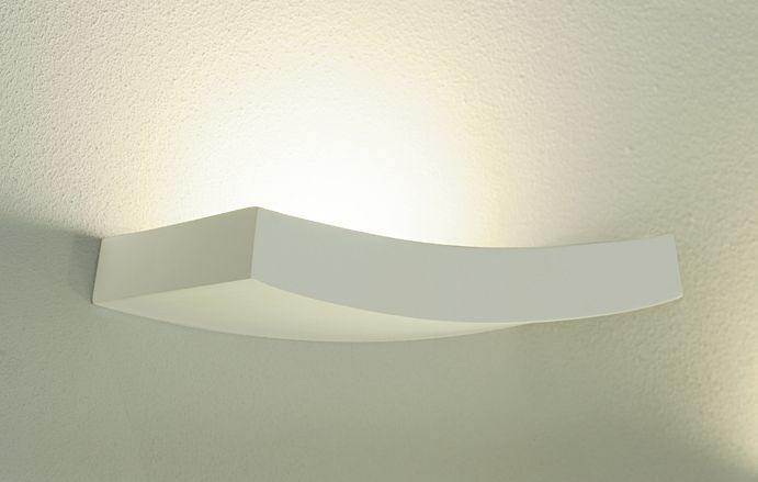 A White Plaster Halogen Floating Wall Uplighter ID Large View
