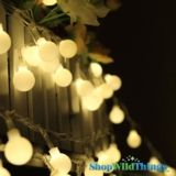 """String Lights - 50 Large Round LED Bulbs - Warm White """"Fairy Lights"""" 14.99"""