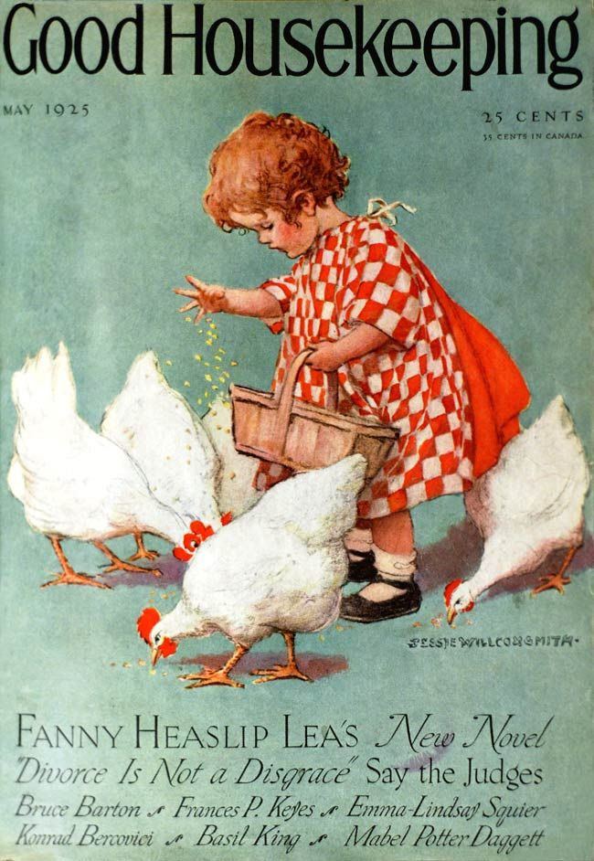 Feeding the chicks May 1925