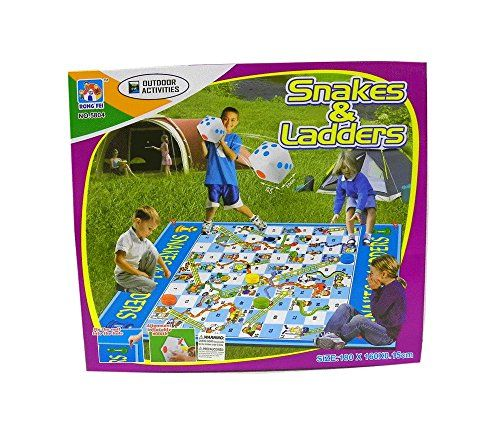 Floor Games - One Set Jumbo Kids Outdoor Garden Snakes and Ladders Floor Mat Game -- You can find out more details at the link of the image.
