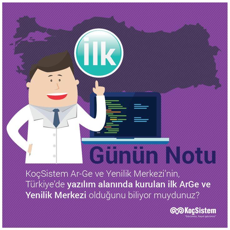 KoçSistem Ar-Ge ve Yenilik Merkezi'nin, Türkiye'de yazılım alanında kurulan ilk ArGe ve Yenilik Merkezi olduğunu biliyor muydunuz? #KoçSistem