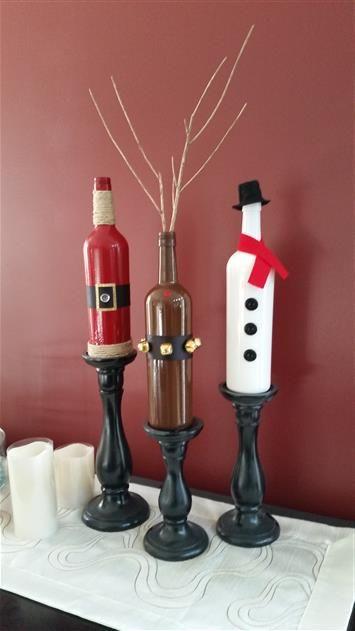 Wine bottle crafts                                                                                                                                                                                 More