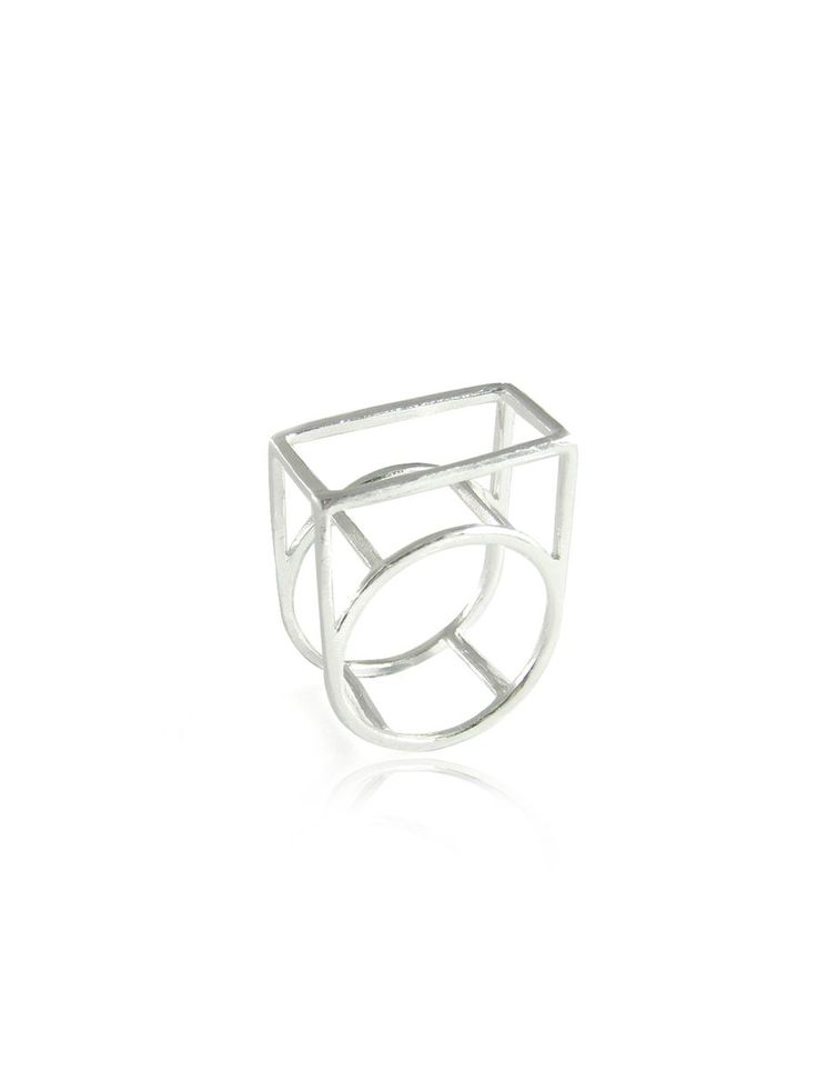 Structure Ring - Silver Plated by CASO