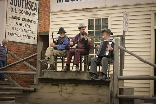 Band at Sovereign Hill, Ballarat, Australia.