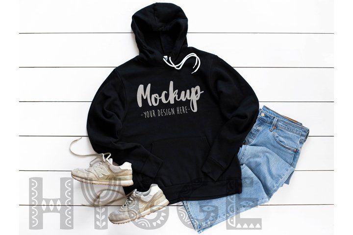 Download Hoodie Mockup Bella Canvas 3719 Black Basic Tshirt Mockup 380409 Mockups Design Bundles Hoodie Mockup Clothing Mockup Unisex Hoodies