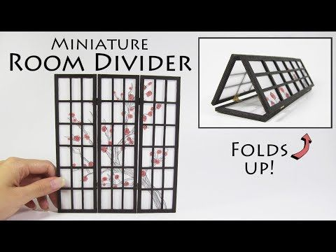 DIY Miniature Room Divider - YouTube